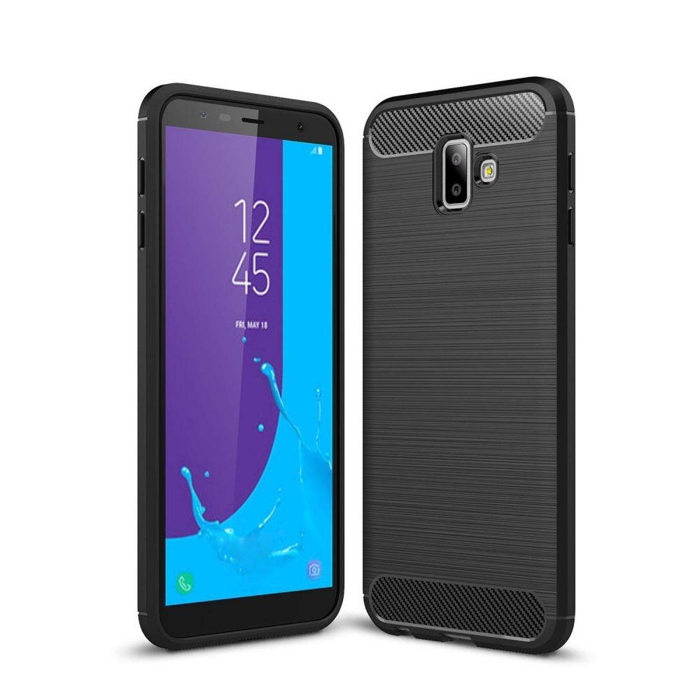 Θήκη TPU Carbon Samsung Galaxy J6 Plus 2018 - Black (14597) - OEM