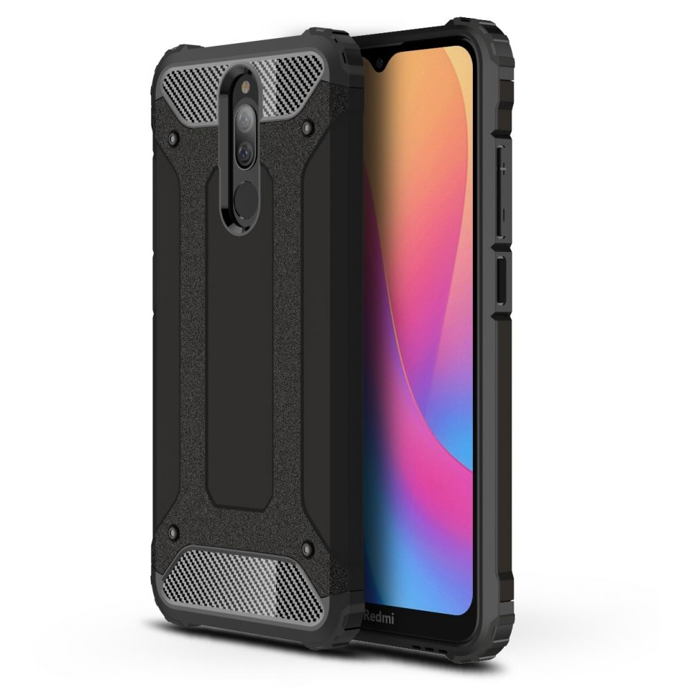 Θήκη Dual Layer Armor Xiaomi Redmi 8 - Black (58203) - OEM