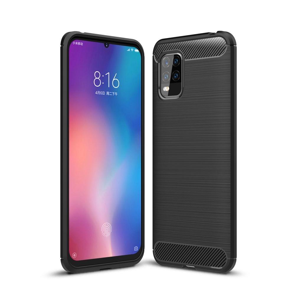 Tech-Protect Θήκη Σιλικόνης Carbon Xiaomi Mi 10 Lite - Black (64608)