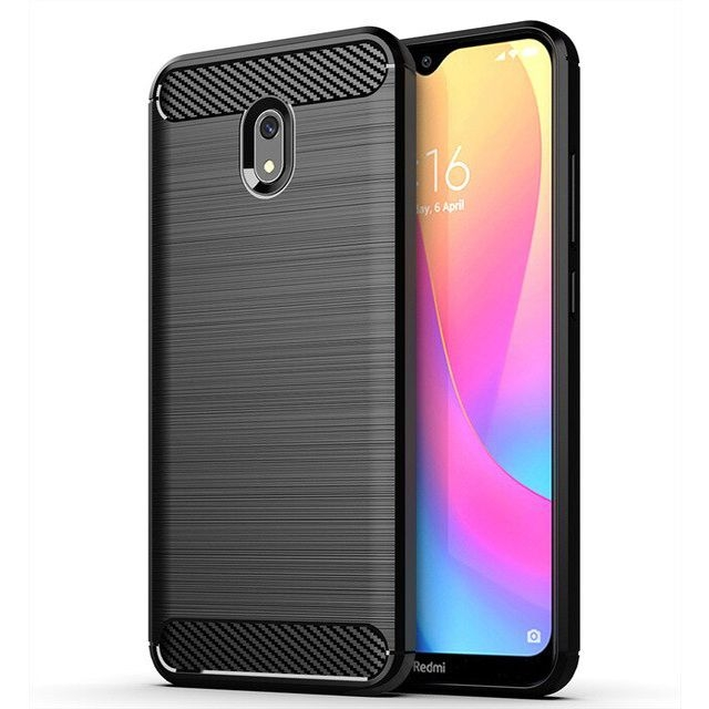 Θήκη Σιλικόνης Carbon Xiaomi Redmi 8A - Black (58199) - OEM
