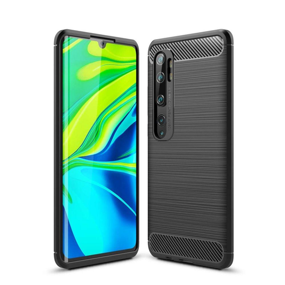 Θήκη Σιλικόνης Carbon Xiaomi Mi Note 10 - Black (59478) - OEM