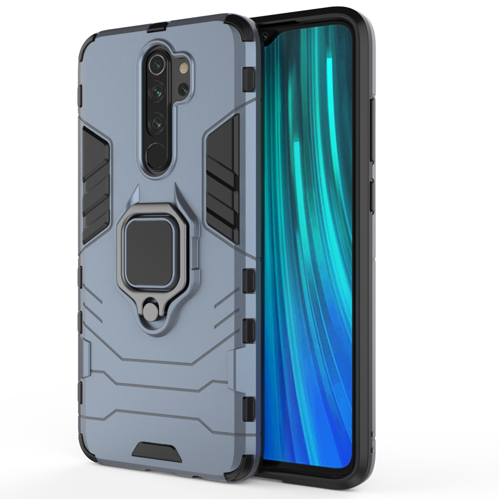 Ανθεκτική Ring Armor Dual Layer Θήκη Xiaomi Redmi Note 8 Pro - Blue (62698) - OEM