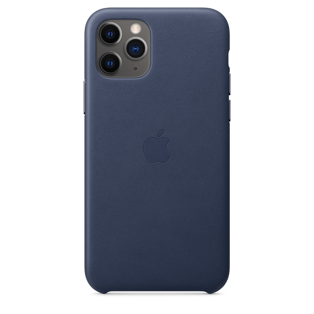 Official Apple Δερμάτινη Θήκη iPhone 11 Pro - Midnight Blue (MWYG2ZM/A)