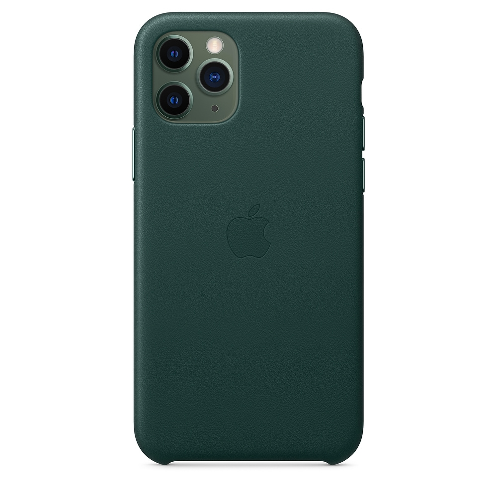 Official Apple Δερμάτινη Θήκη iPhone 11 Pro - Forest Green (MWYC2ZM/A)