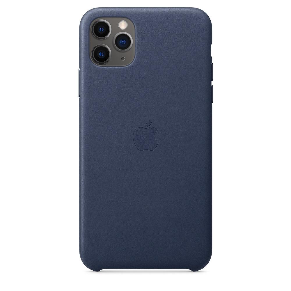 Official Apple Δερμάτινη Θήκη iPhone 11 Pro Max - Midnight Blue (MX0G2ZM/A)