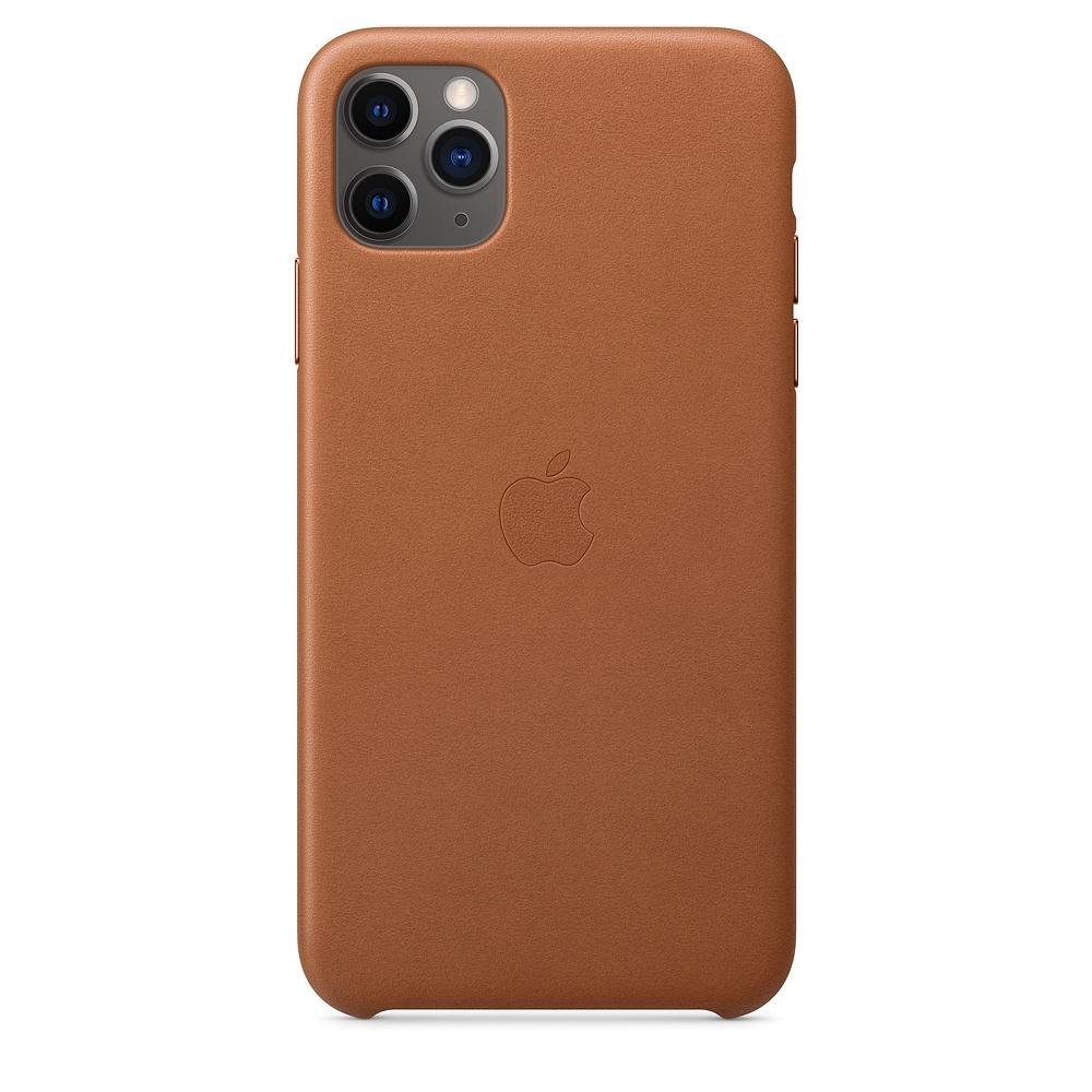Official Apple Δερμάτινη Θήκη iPhone 11 Pro Max - Saddle Brown (MX0D2ZM/A)