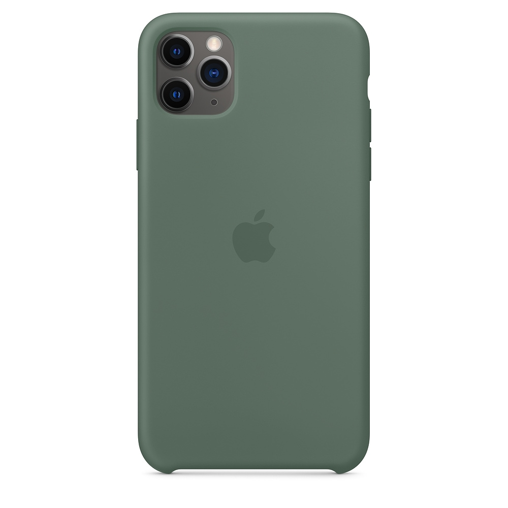 Official Apple Silicon Cover - Θήκη Σιλικόνης iPhone 11 Pro Max - Pine Green (MX012ZM/A)