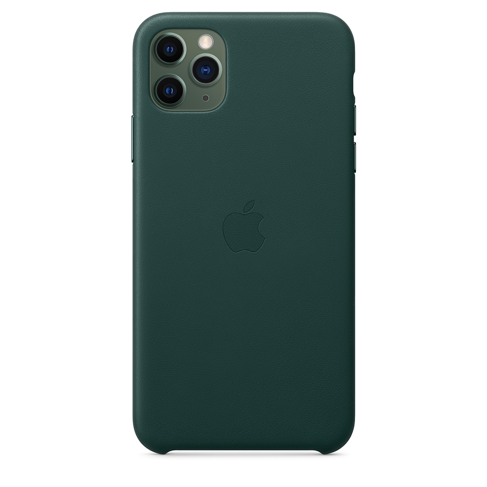 Official Apple Δερμάτινη Θήκη iPhone 11 Pro Max - Forest Green (MX0C2ZM/A)