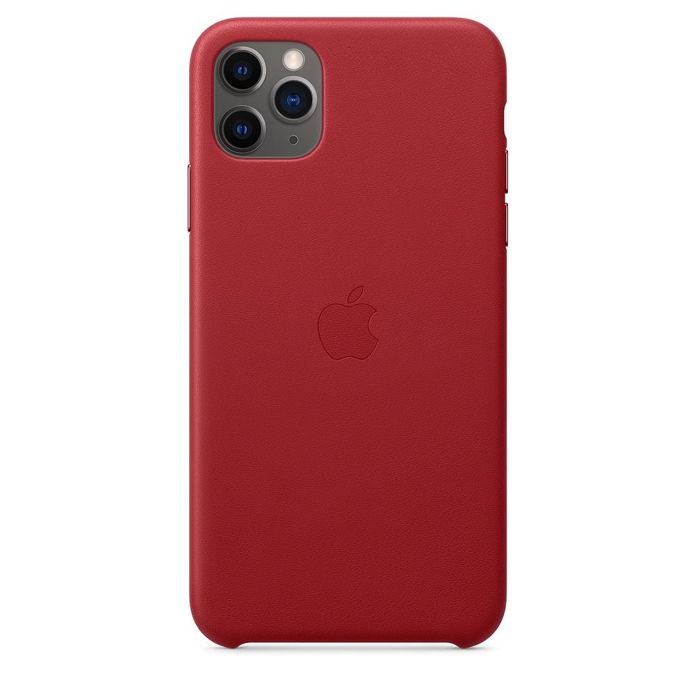 Official Apple Δερμάτινη Θήκη iPhone 11 Pro Max - Red (MX0F2ZM/A)