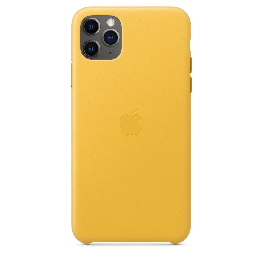 Official Apple Δερμάτινη Θήκη iPhone 11 Pro Max - Meyer Lemon (MX0A2ZM/A)