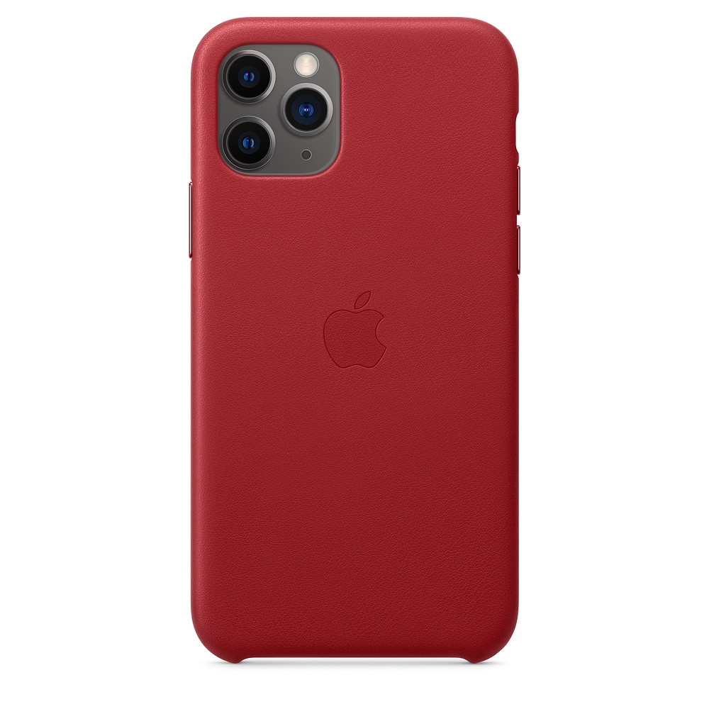 Official Apple Δερμάτινη Θήκη iPhone 11 Pro - Red (MWYF2ZM/A)