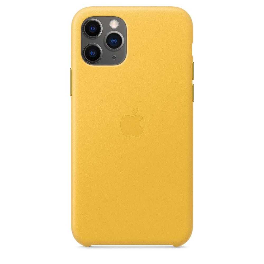 Official Apple Δερμάτινη Θήκη iPhone 11 Pro - Meyer Lemon (MWYA2ZM/A)