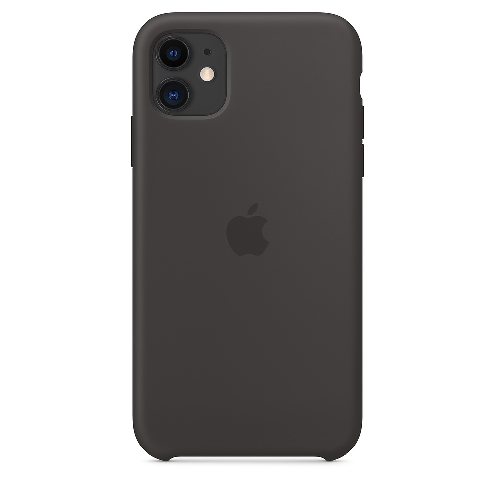 Official Apple Silicon Cover - Θήκη Σιλικόνης iPhone 11 - Black (MWVU2ZM/A)