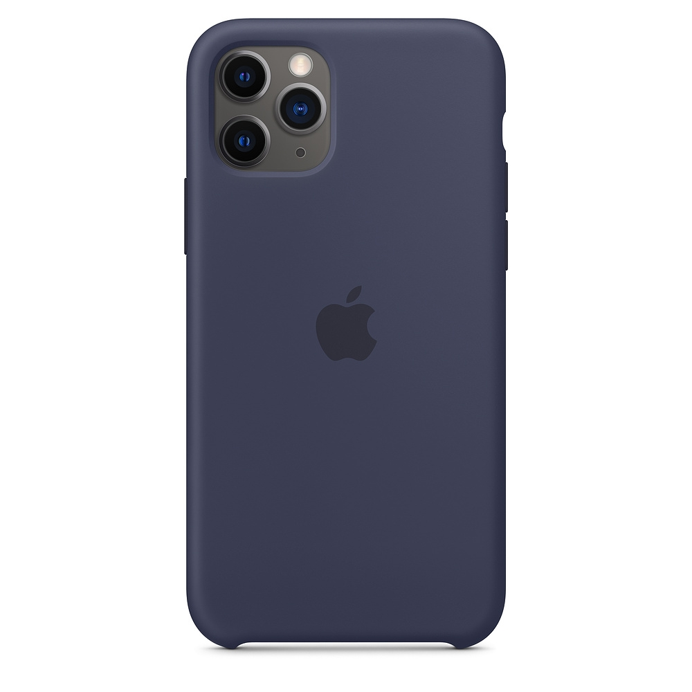 Official Apple Silicon Cover - Θήκη Σιλικόνης iPhone 11 Pro - Midnight Blue (MWYJ2ZM/A)