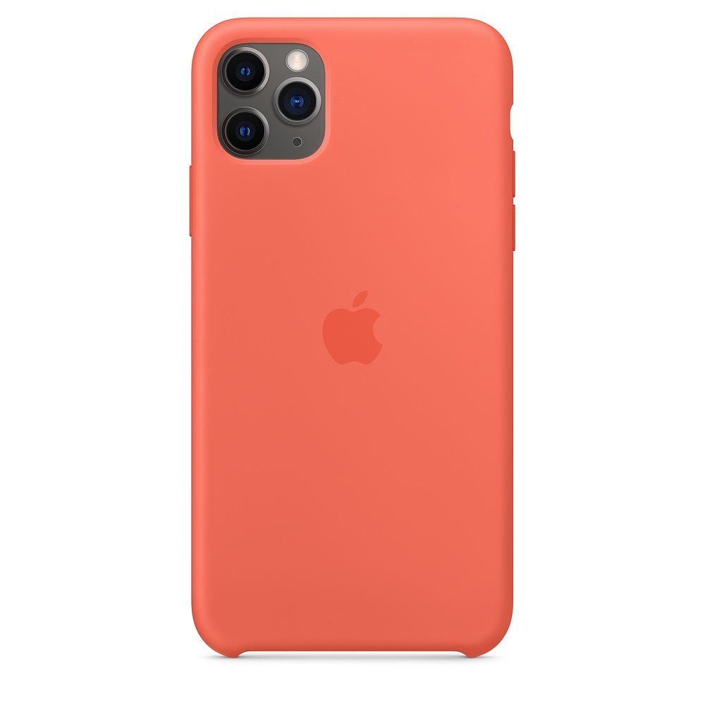 Official Apple Silicon Cover - Θήκη Σιλικόνης iPhone 11 Pro Max - Clementine (MX022ZM/A)
