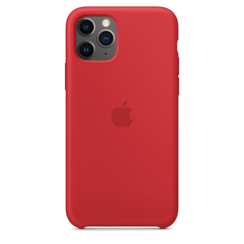 Official Apple Silicon Cover - Θήκη Σιλικόνης iPhone 11 Pro - Red (MWYH2ZM/A)