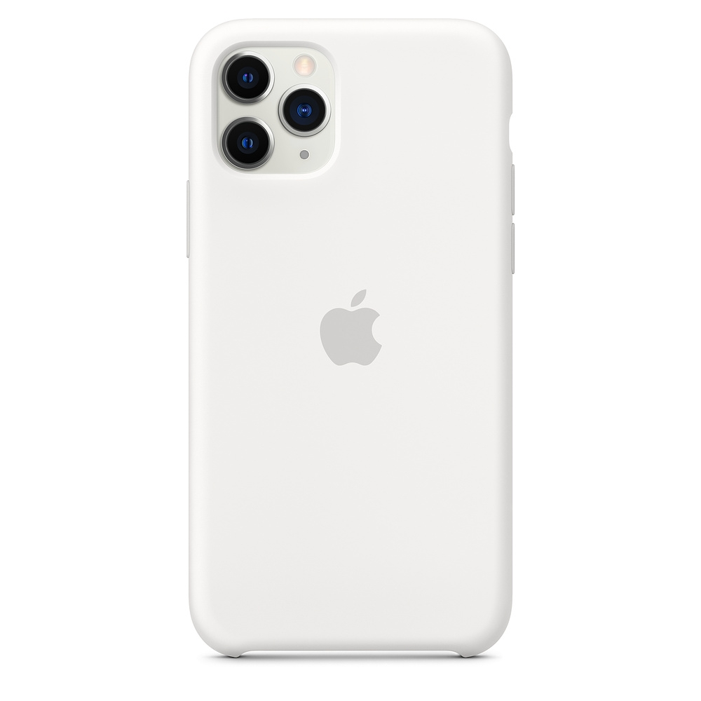 Official Apple Silicon Cover - Θήκη Σιλικόνης iPhone 11 Pro - White (MWYL2ZM/A)