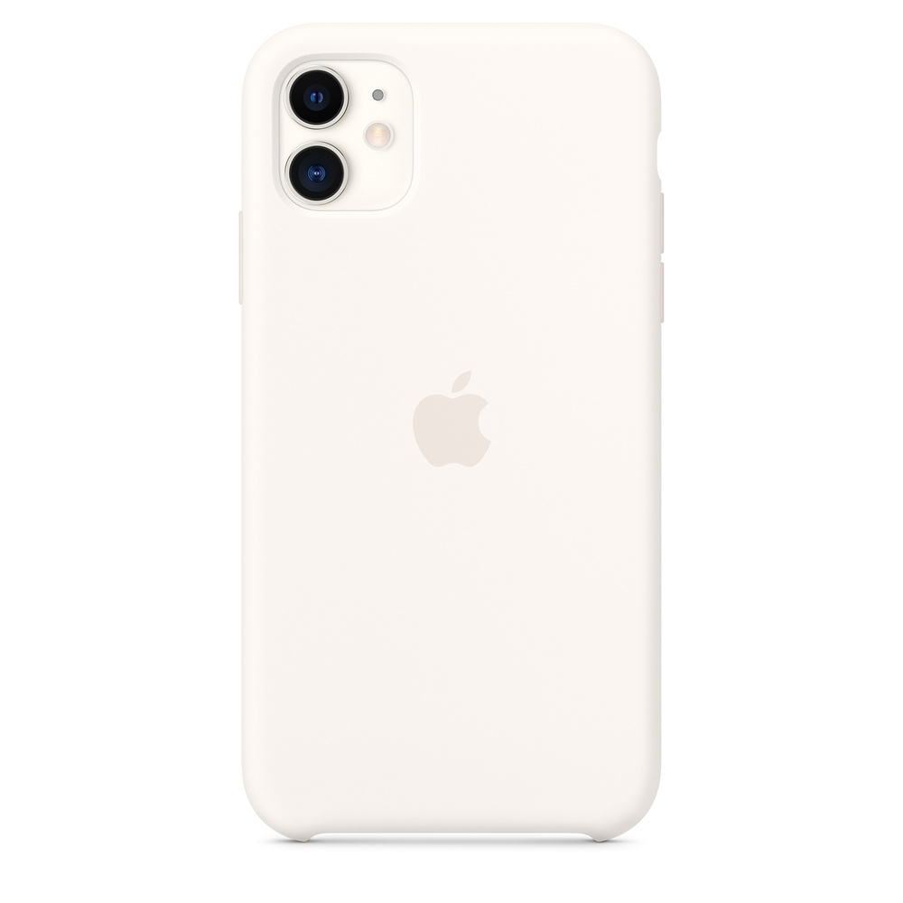 Official Apple Silicon Cover - Θήκη Σιλικόνης iPhone 11 - White (MWVX2ZM/A)