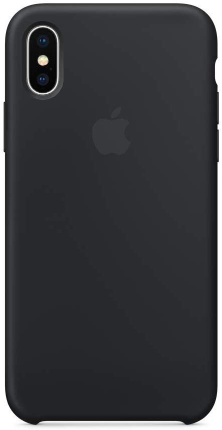 Official Apple Silicon Cover - Θήκη Σιλικόνης iPhone X - Black (MQT12ZM/A)