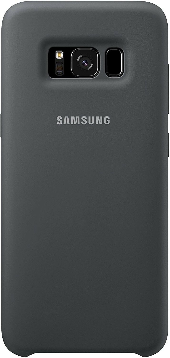 Samsung Official Silicon Cover - Silky and Soft-Touch Finish - Θήκη Σιλικόνης Samsung Galaxy S8 Plus - Grey (EF-PG955TSEGWW)