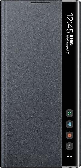 Samsung Official Clear View Cover - Θήκη Flip με Ενεργό Πορτάκι Samsung Galaxy Note 10 - Black (EF-ZN970CBEGWW)