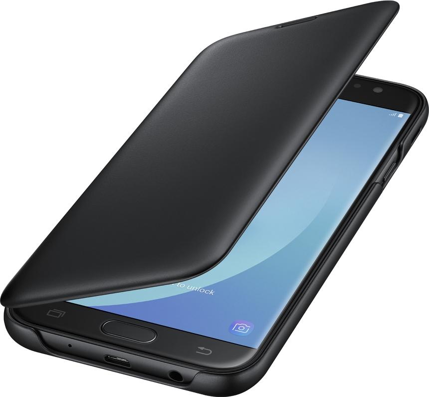 Official Flip Wallet - Θήκη Samsung Galaxy J7 2017 - Black (EF-WJ730CBEGWW)