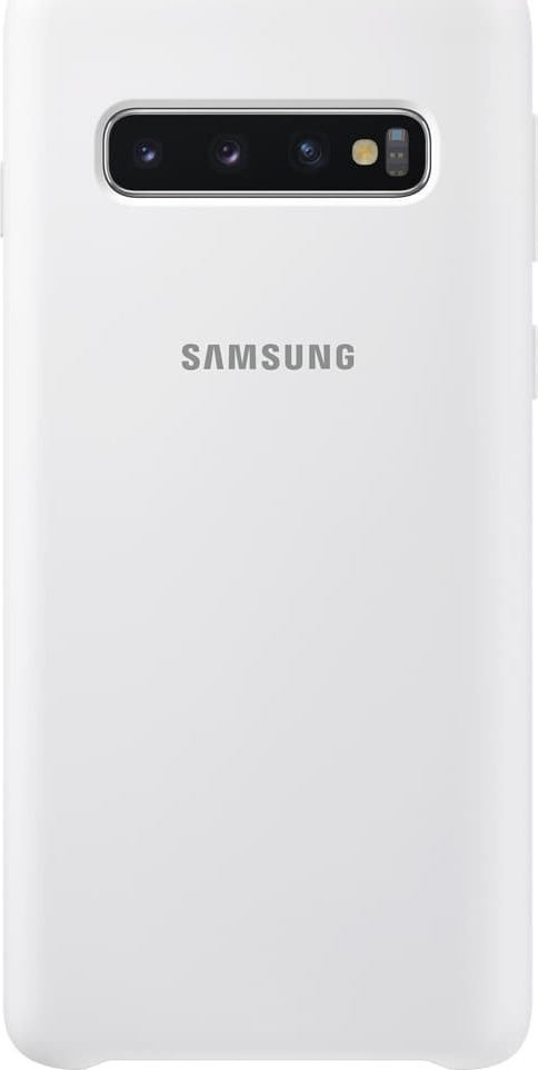 Samsung Official Silicon Cover - Silky and Soft-Touch Finish - Θήκη Σιλικόνης Samsung Galaxy S10 - White (EF-PG973TWEGWW)