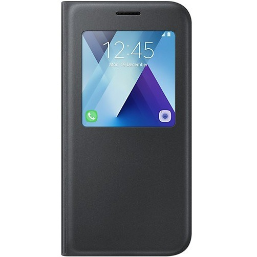 Official S-View Standing Cover Θήκη Samsung Galaxy A5 2017 - Black (EF-CA520PBEGWW)