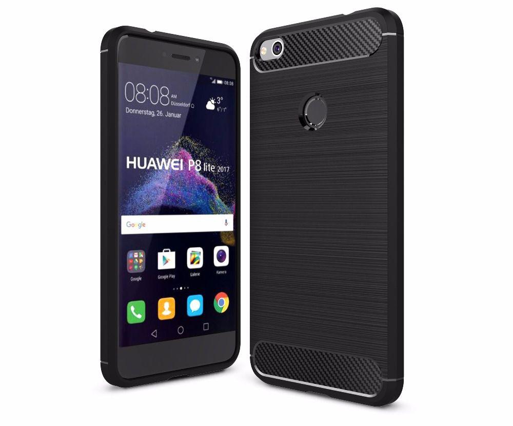 Θήκη TPU Carbon Huawei P8/P9 Lite 2017 - Black (10319) - OEM