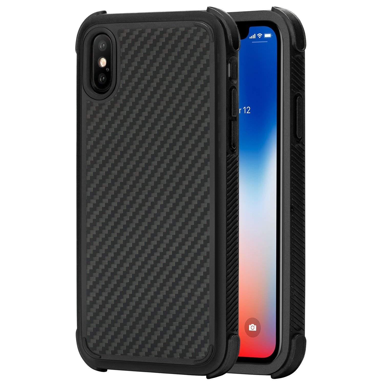 Pitaka MagCase Pro - Θήκη Kevlar Body iPhone X - Black (KI8001XP)