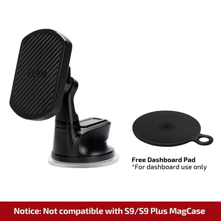 Pitaka MagMount Qi Suction Cup - Wireless Βάση Φόρτισης Αυτοκινήτου με Βεντούζα - Black (CMS002Q)