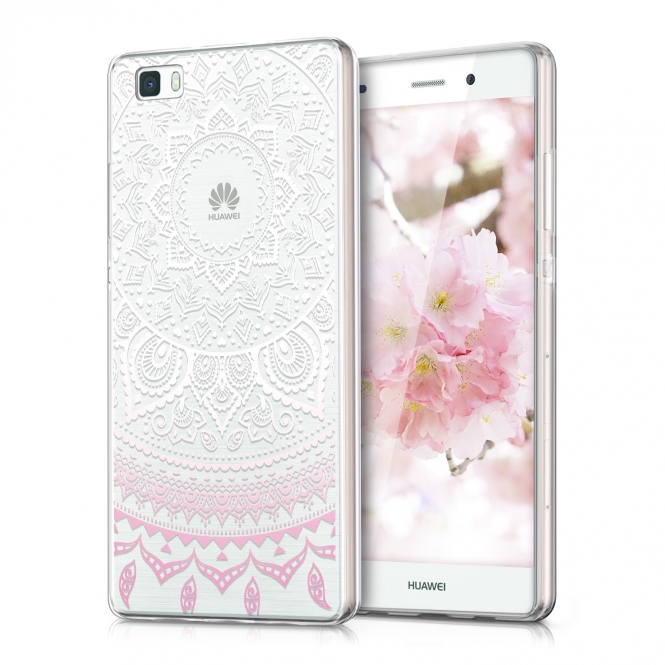 KW Θήκη Σιλικόνης Huawei Ascend P8 Lite (35161-01) Light Pink - Indian Sun