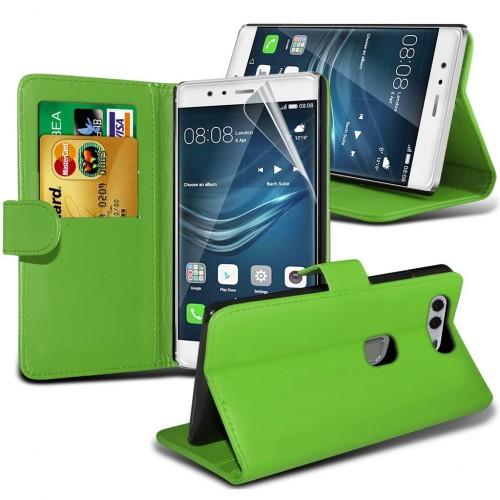 Θήκη Huawei P9 Plus - Πορτοφόλι (8960) Πράσινο - OEM