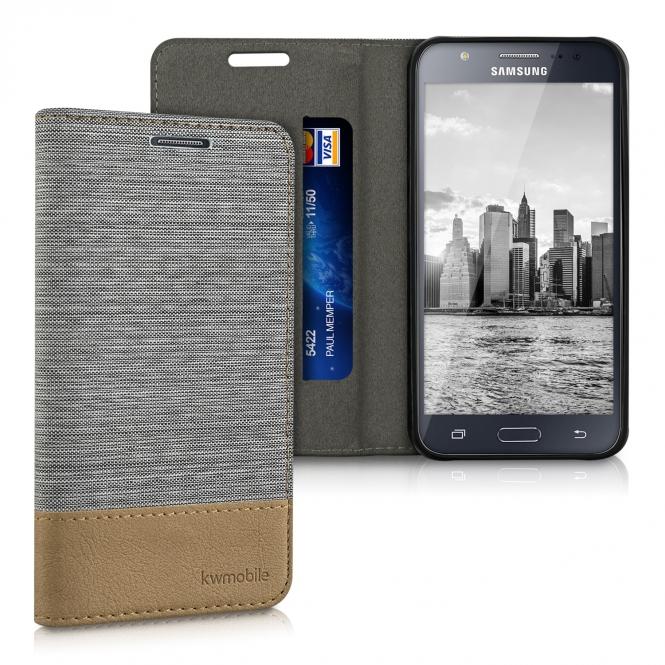 KW Θήκη Samsung Galaxy J5 2015 (36384.34) - Light Grey / Brown