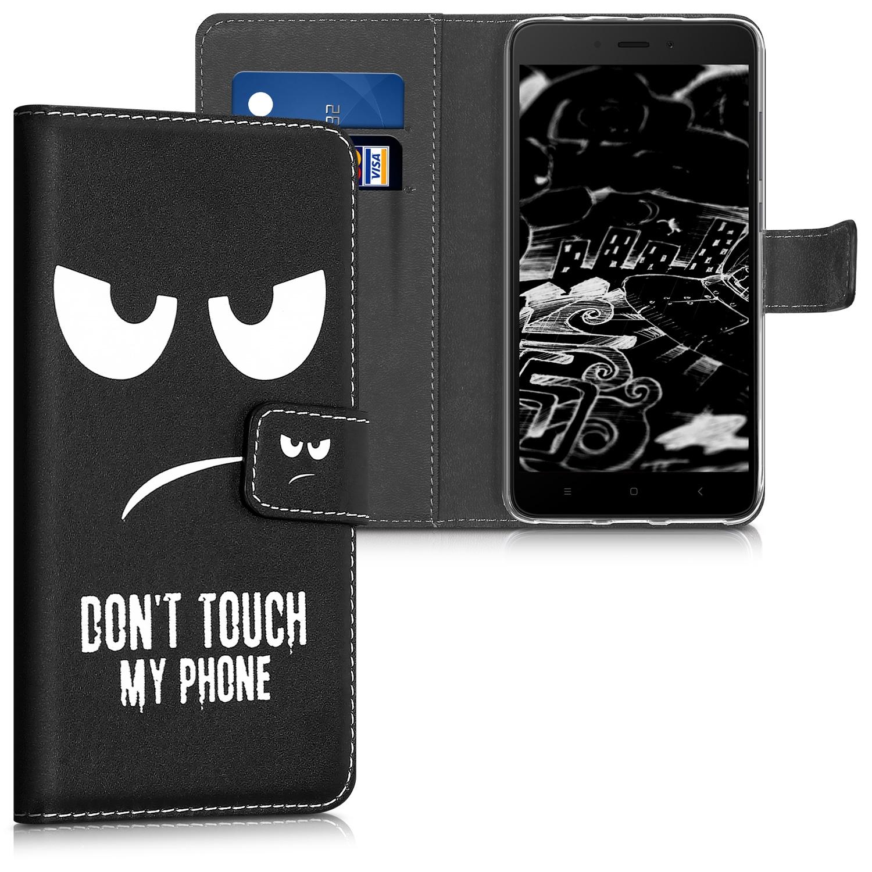 KW Θήκη - Πορτοφόλι Xiaomi Redmi Note 4 / Note 4X - Don't Touch My Phone (43021.02)
