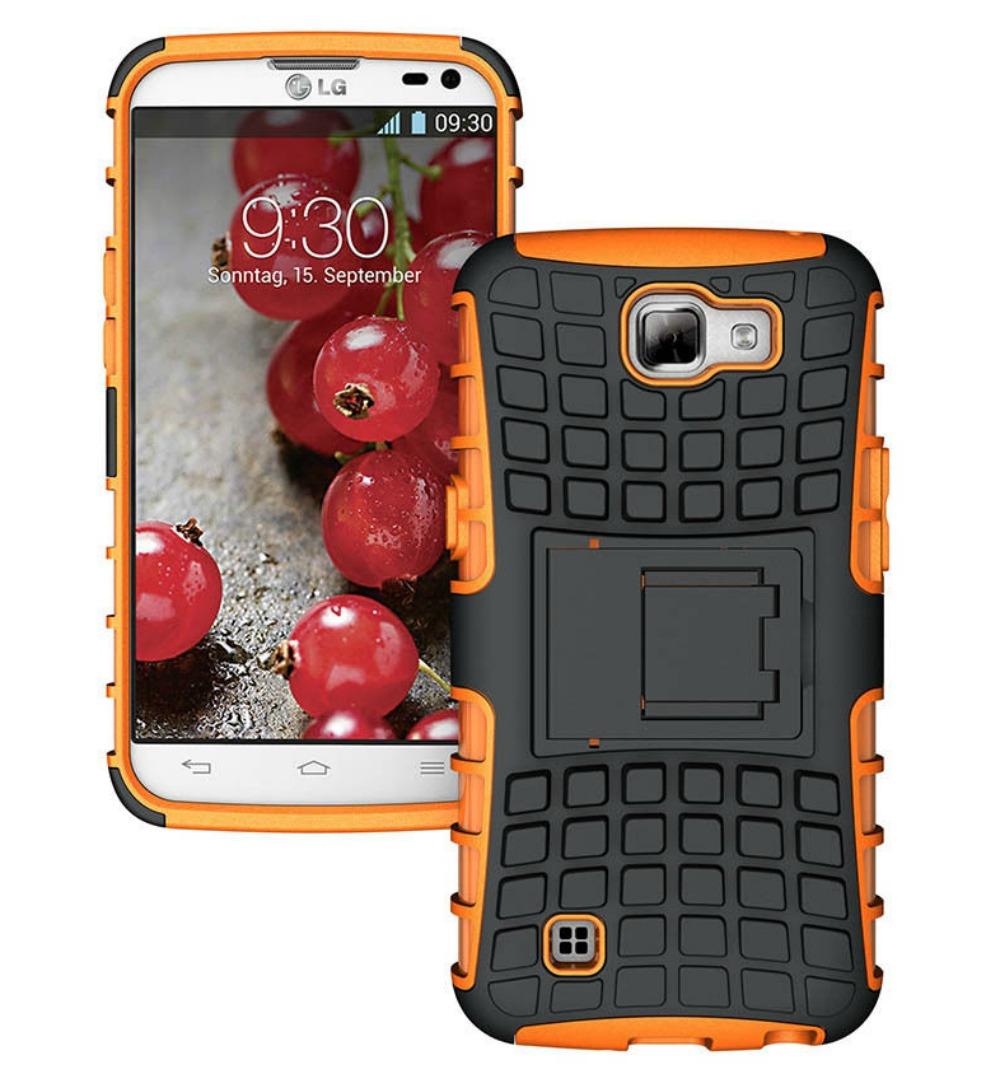 Ανθεκτική Θήκη LG K4 (8270) Πορτοκαλί - OEM