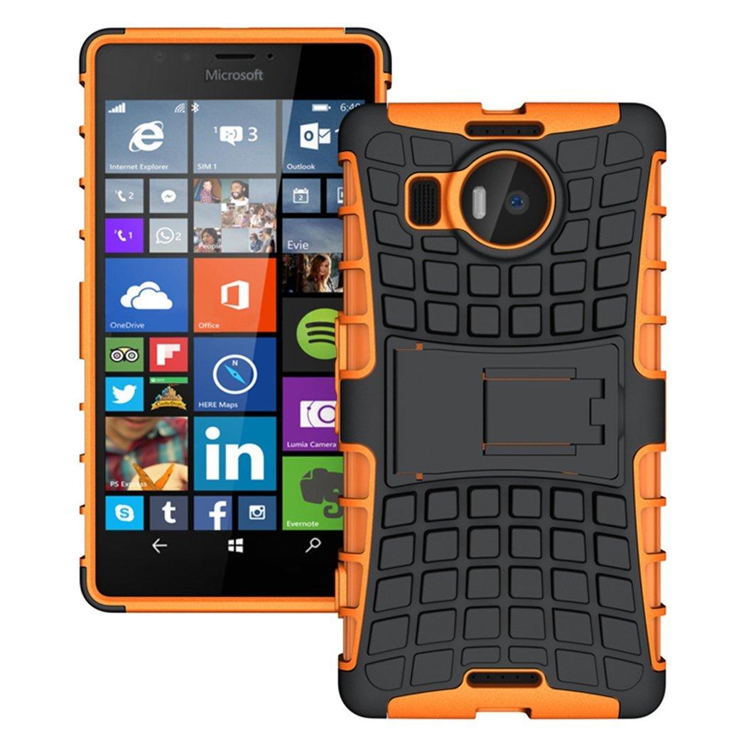 Ανθεκτική Θήκη Microsoft Lumia 950XL - Πορτοκαλί (9682) - OEM