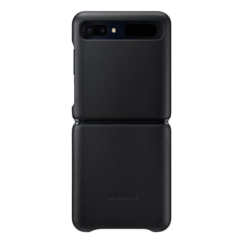 Official Samsung Δερμάτινη Θήκη Samsung Galaxy Z Flip - Black (EF-VF700LBEGEU)
