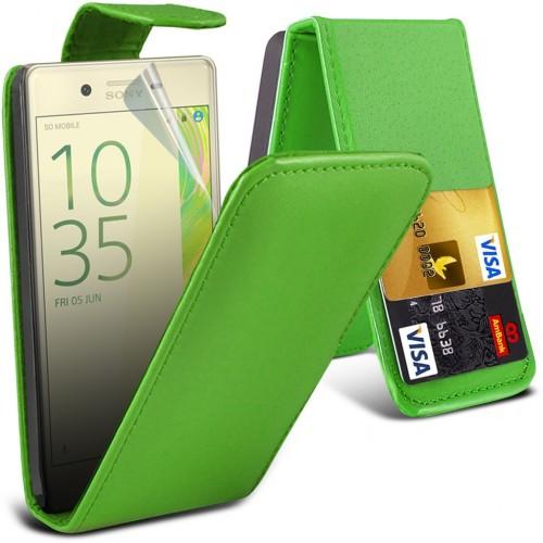 Flip Θήκη Sony Xperia X (8942) Πράσινο - OEM