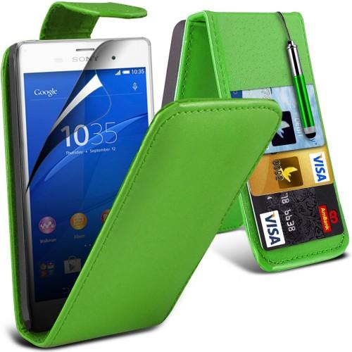 Flip Θήκη Sony Xperia Z3 Compact - Green (001-005-033) - OEM