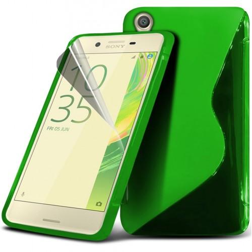 Θήκη S-Line Σιλικόνης Sony Xperia X (8947) Πράσινο - OEM