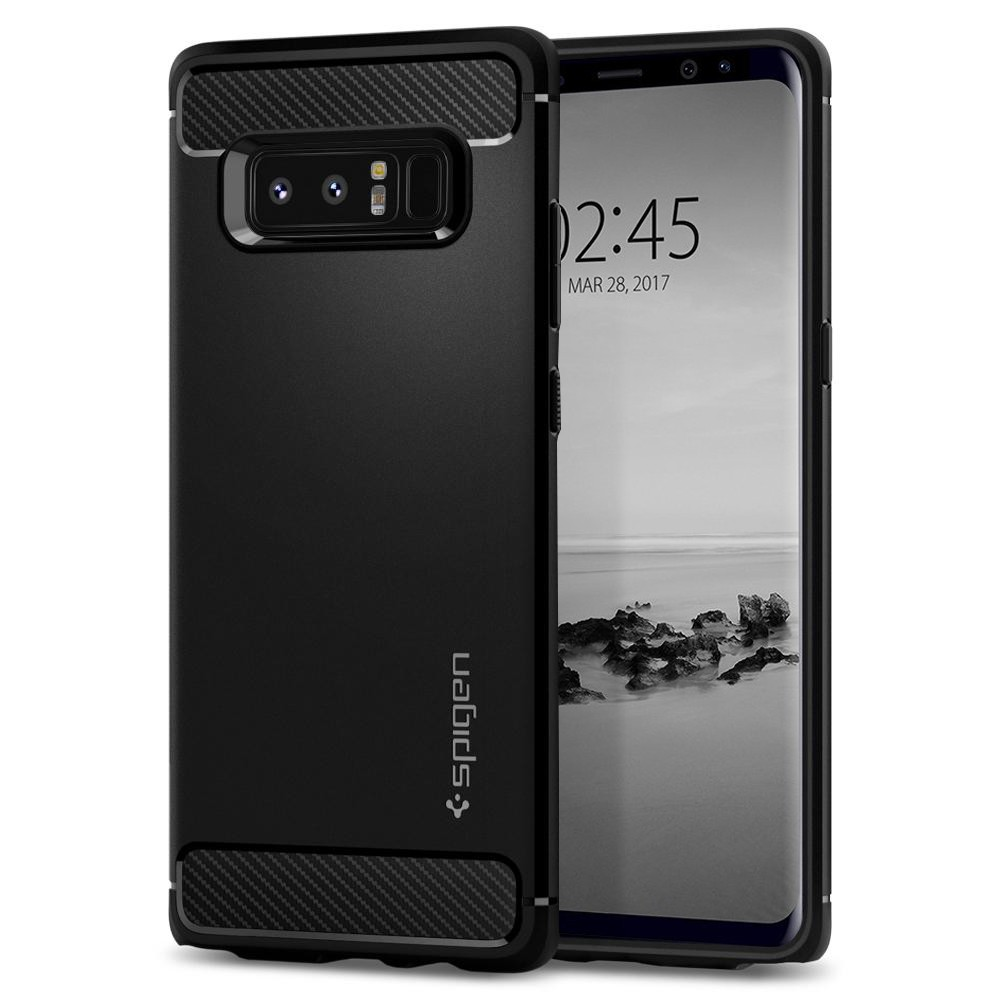 Spigen Θήκη Rugged Armor Samsung Galaxy Note 8 - Black (587CS22061)
