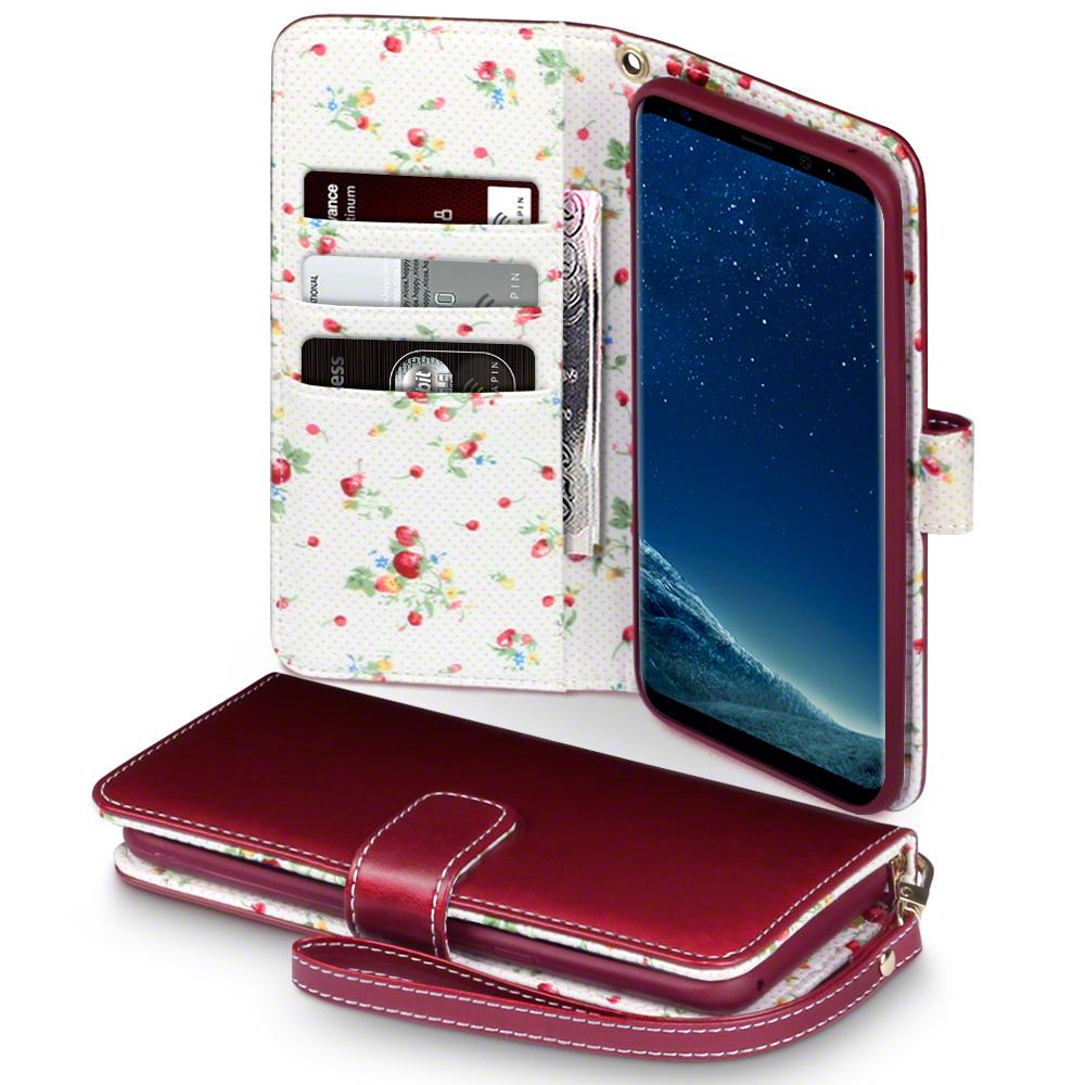 Terrapin Θήκη - Πορτοφόλι Samsung Galaxy S8 Plus - Red Floral (117-002-955)