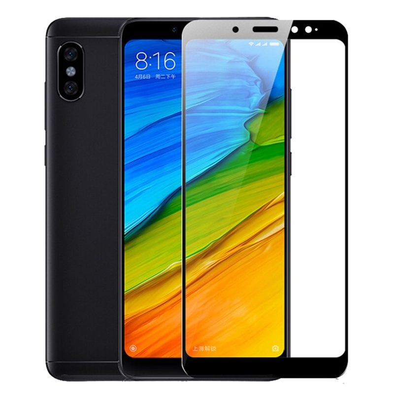 RedShield Tempered Glass - Fullface Αντιχαρακτικό Γυαλί Οθόνης Xiaomi Note 5 - Black (RSHITEMP26BK)