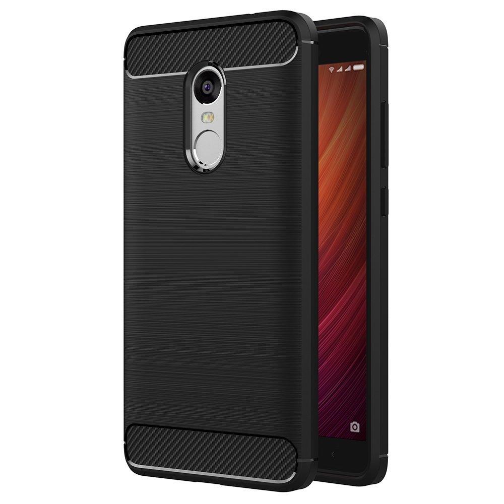 Θήκη TPU Carbon Xiaomi Redmi Note 4 - Black (8866)