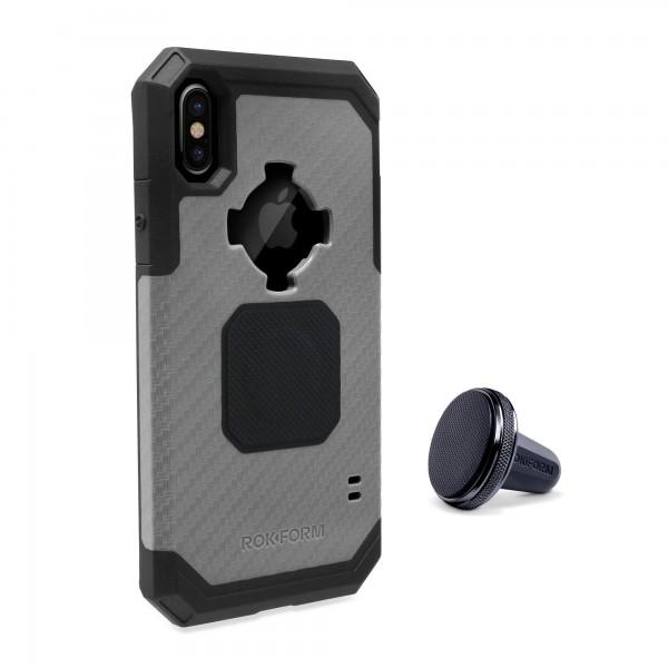 Rokform Rugged Θήκη iPhone X / XS με Μαγνητική Βάση Αυτοκινήτου - Gunmetal (303743)