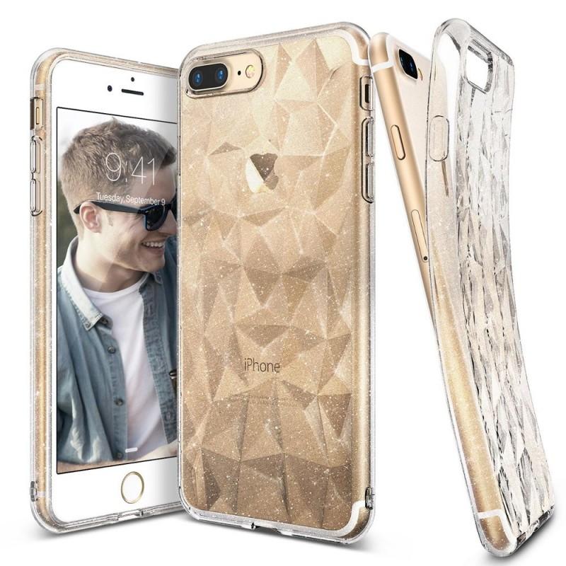 Ringke Air Prism Θήκη Σιλικόνης  iPhone 8 Plus / iPhone 7 Plus με Ανάγλυφο Σχέδιο - Clear Glitter (11163)