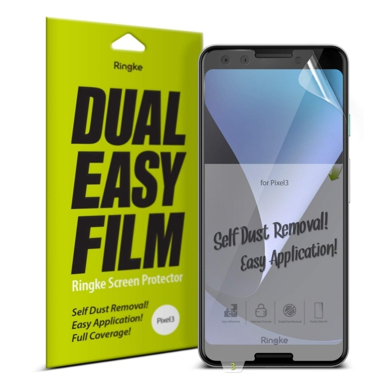Ringke Invisible Defender Dual Easy Full Cover Screen Protector Google Pixel 3 - 2τμχ (14749)