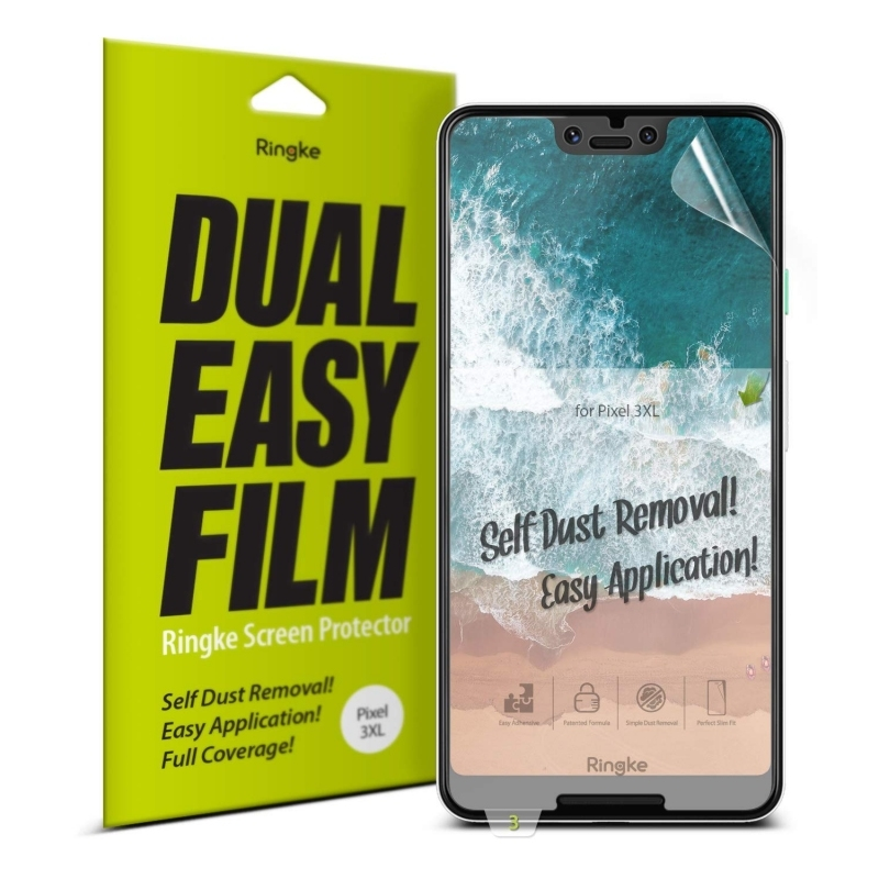 Ringke Invisible Defender Dual Easy Full Cover Screen Protector Google Pixel 3 XL - 2τμχ (14748)