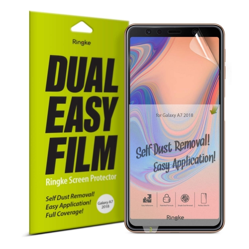 Ringke Invisible Defender Dual Easy Full Cover Screen Protector Samsung Galaxy A7 2018 - 2τμχ (14747)